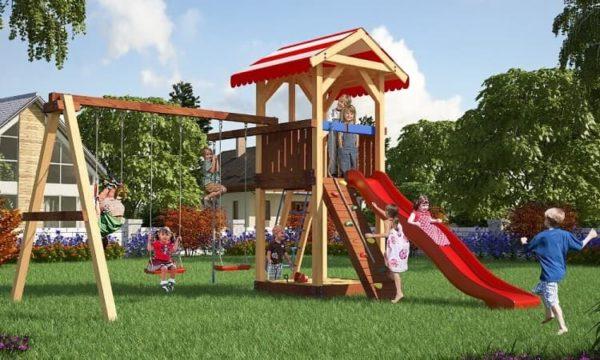 Детский игровой комплекс для дачи Савушка 5