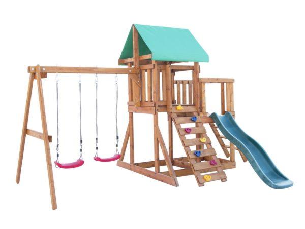 1igrovaja ploshhadka babygarden s balkonom skalolazkoj i gorkoj 1.8m