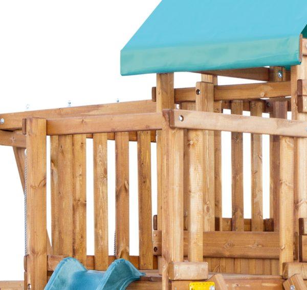 detskaja igrovaja ploshhadka babygarden s balkonom zakrytym domikom i dvumja gorkami2
