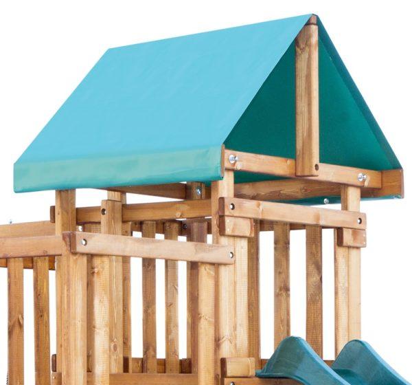 detskaja igrovaja ploshhadka babygarden s balkonom zakrytym domikom i dvumja gorkami5
