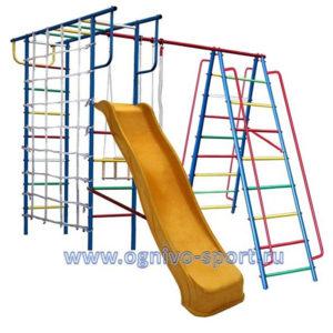 Детская площадка Вертикаль-А1+П дачный с сеткой и горкой 3.0 м