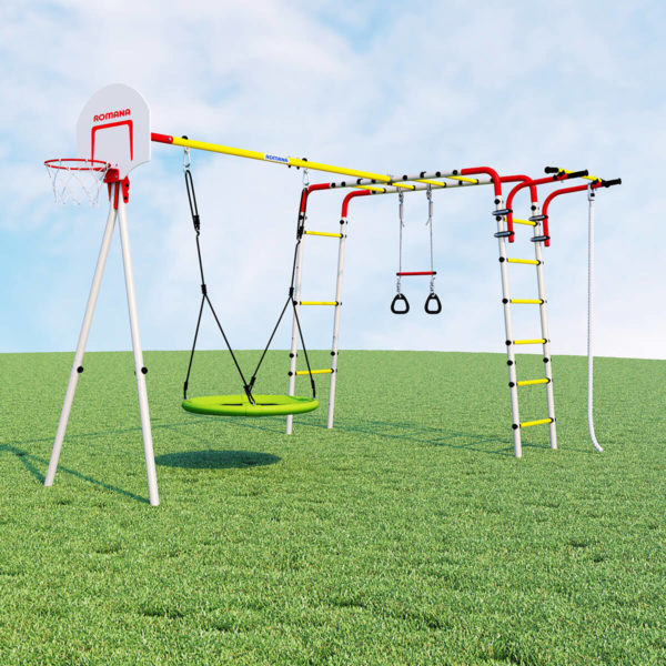Детский спортивный комплекс для дачи ROMANA Акробат - 2 (качели гнездо)