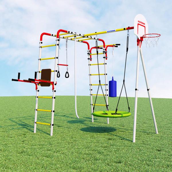 Детский спортивный комплекс для дачи ROMANA Fitness (качели гнездо)