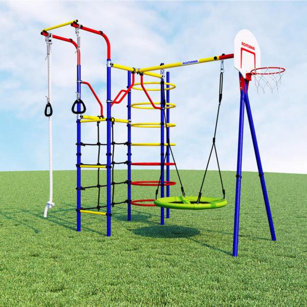 Детский спортивный комплекс для дачи ROMANA Космодром (качели гнездо)