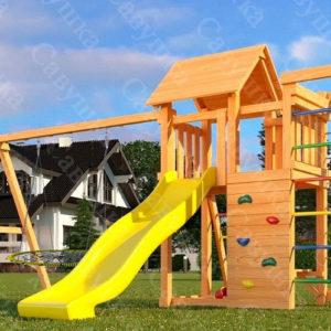 Детская площадка Савушка Мастер-10 + качели-гнездо