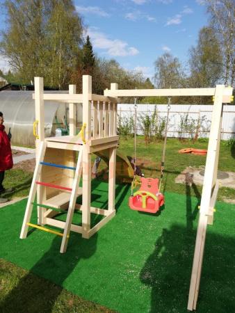 Детская площадка Савушка Мастер 6 с качелями фото