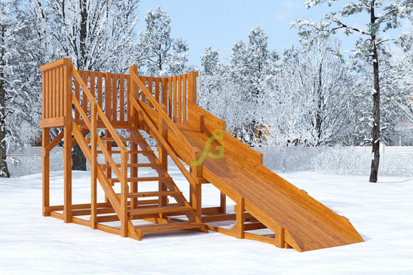 derevjannaja zimnjaja gorka snow fox skat 4 m