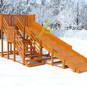 Детская деревянная зимняя горка Snow Fox, скат 5,9 м 6