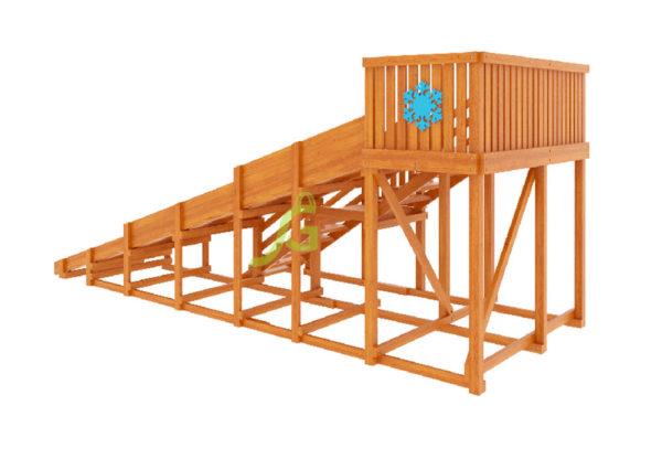 Детская деревянная зимняя горка Snow Fox, скат 5,9 м 3