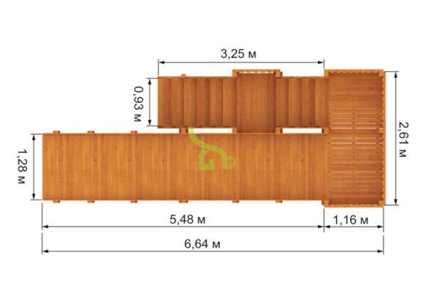 Детская деревянная зимняя горка Snow Fox, скат 5,9 м 5