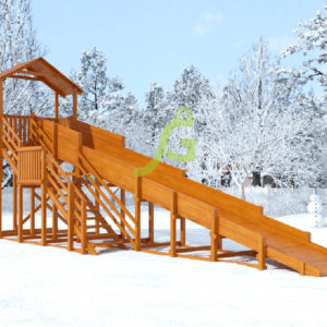 Зимняя горка Snow Fox (Домик), скат 10 м 5