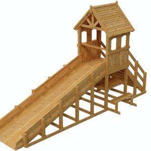 зимняя деревянная заливная горка Теремок 1 пропитка 3
