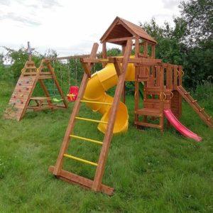 Детская площадка Выше Всех Маугли с винтовой горкой 1
