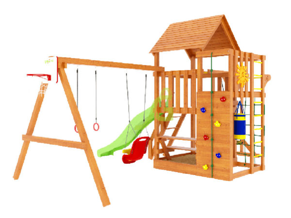 Детская площадка IgraGrad Крафт Pro 4 (скат 2.2)-1