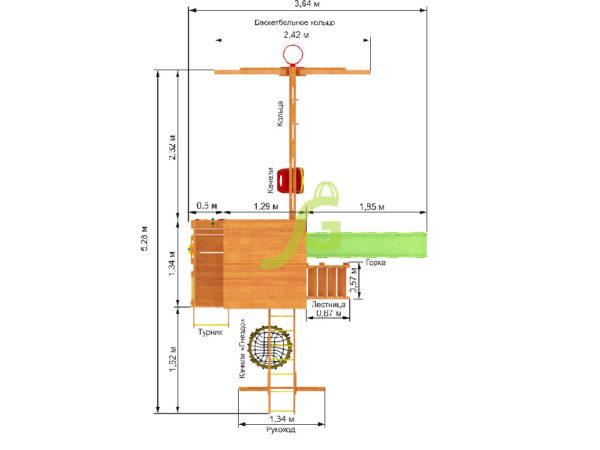 Детская площадка IgraGrad Крафт Pro 4 (скат 2.2)-2