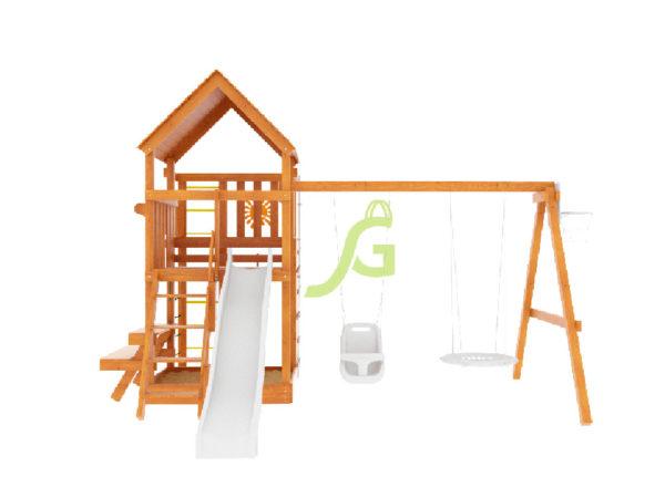 Детская площадка IgraGrad Крафт Pro (окрашенная)-4