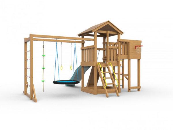Детская игровая площадка Лео макси с гнездом окрашенная