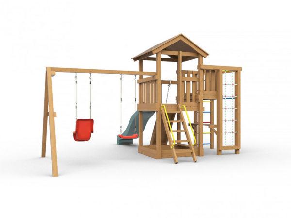 Детская игровая площадка Лео окрашенная-2