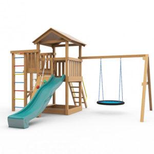 Детская игровая площадка Лео с гнездом окрашенная