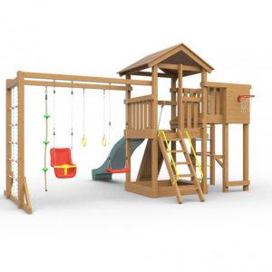 Детская площадка для дачи Лео макси окрашенная1