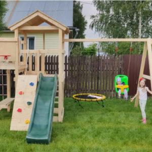 Детская площадка Лео качели-гнездо 0.8м + баскет (3)