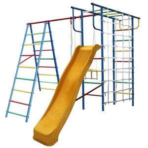 Детская площадка Вертикаль-А+П с сеткой и горкой 3.0 м