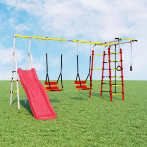 Детский спортивный комплекс для дачи ROMANA Богатырь Плюс - 2 (качели цепные)