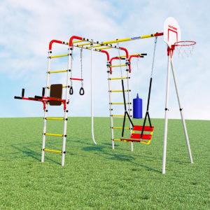 Детский спортивный комплекс для дачи ROMANA Fitness (качели цепные)