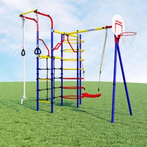 Детский спортивный комплекс для дачи ROMANA Космодром (качели пластиковые)