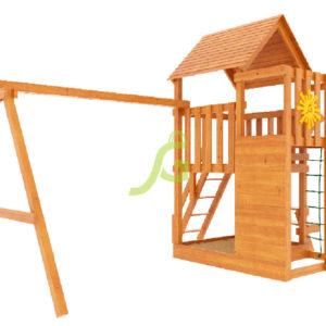 Детская площадка IgraGrad Крафт Pro (окрашенная)-1