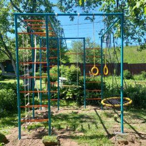 Детская площадка для дачи ЧЕ-СПОРТ Мини с качелями-гнездо 80-1